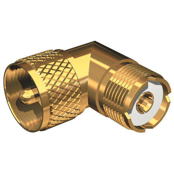 Shakespeare Right Angle Connector - PL-259 to SO-239 Adapter [RA-259-239-G] - Point Supplies Inc.