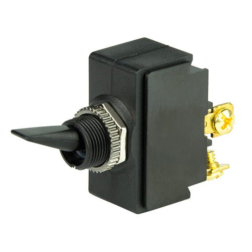 BEP SPST Nylon Toggle Switch - 12V - #6-32 Terminal - ON-OFF [1001902] - point-supplies.myshopify.com