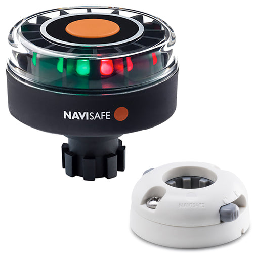 Navisafe Navilight Tricolor 2NM w-Navibolt Base  Horizontal Mount - White [342KIIT5] - point-supplies.myshopify.com