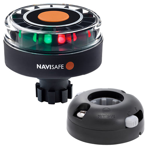 Navisafe Navilight Tricolor 2NM w-Navibolt Base  Horizontal Mount - Black [342KIT7] - point-supplies.myshopify.com