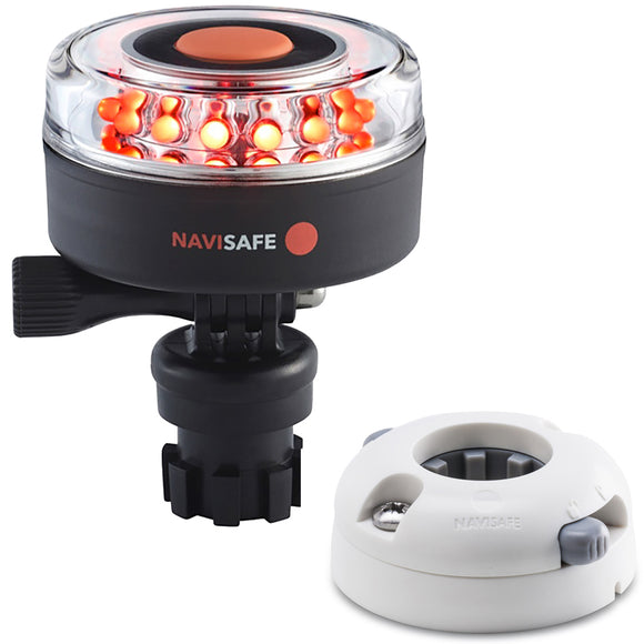 Navisafe Navilight All RED 360 2NM w/Navimount Base  Horizontal Mount - White [045KIT5] - Point Supplies Inc.