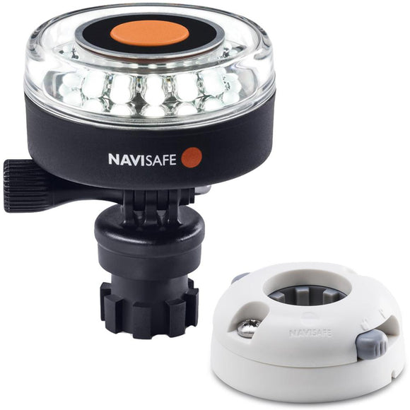Navisafe Navilight 360 2NM White w/Navimount Base  Horizontal Mount - White [040KIT5] - Point Supplies Inc.