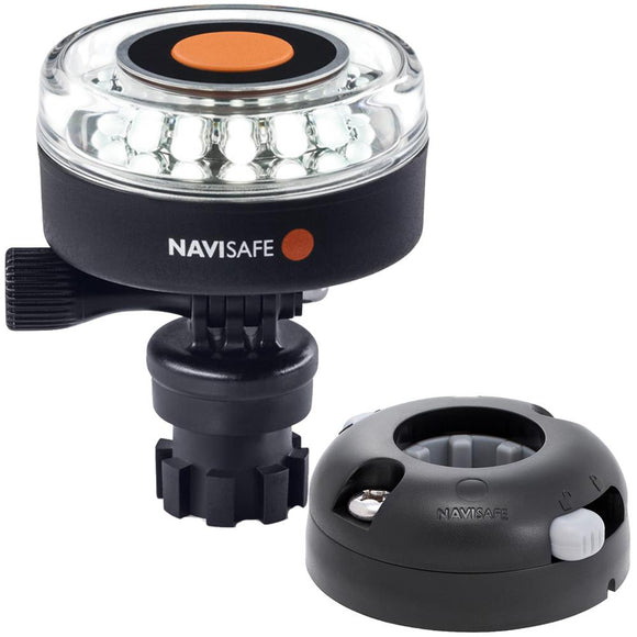 Navisafe Navilight 360 2NM White w/Navimount Base  Horizontal Mount - Black [040KIT7] - Point Supplies Inc.