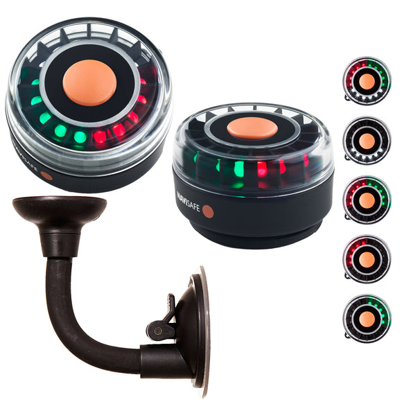 Navisafe Portable Navilight 2NM - TriColor w/Bendable Suction Cup Mount [305KIT2] - Point Supplies Inc.