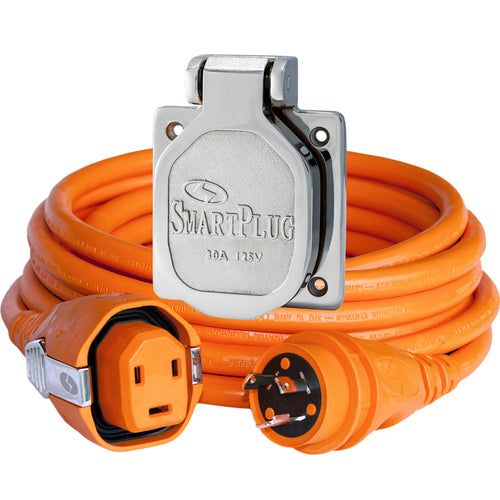 SmartPlug 30 Amp 50 Dual Configuration Cordset w-Tinned Wire  30 Amp Stainless Steel Inlet [C30503BM30NT] - point-supplies.myshopify.com