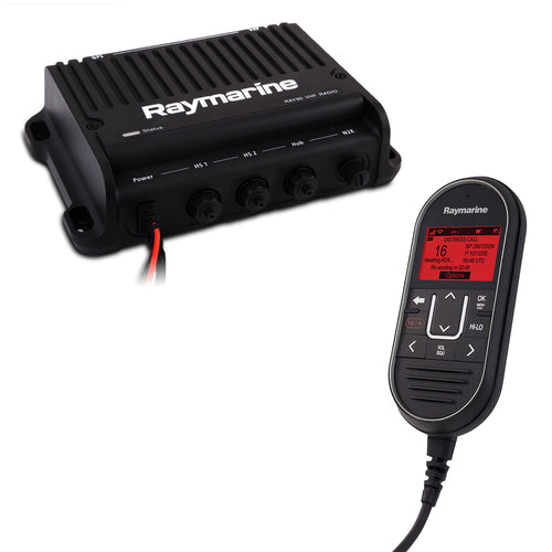 Raymarine Ray91 Modular Dual-Station VHF Black Box Radio System w-AIS [E70493]-Raymarine-Point Supplies Inc.