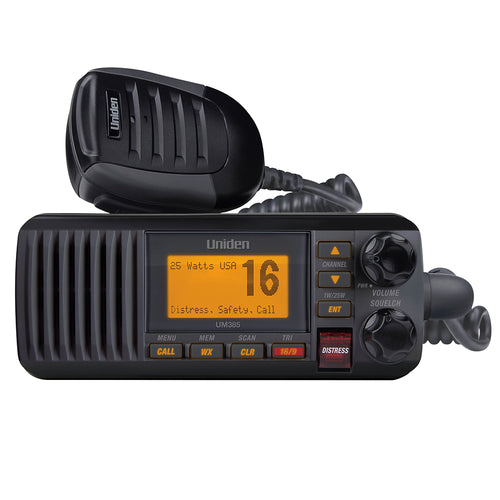 Uniden UM385 Fixed Mount VHF Radio - Black [UM385BK] - point-supplies.myshopify.com