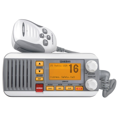 Uniden UM435 Fixed Mount VHF Radio - White [UM435] - point-supplies.myshopify.com