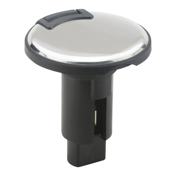 Attwood LightArmor Plug-In Base - 3 Pin - Stainless Steel - Round [910R3PSB-7] - Point Supplies Inc.