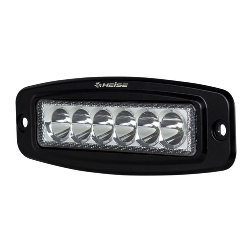 HEISE 6 LED Single Row Driving Light - Flush Mount [HE-FMDL1] - point-supplies.myshopify.com