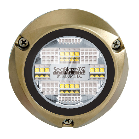 Lumitec SeaBlazeX2 Spectrum LED Underwater Light - Full-Color RGBW [101515] - Point Supplies Inc.