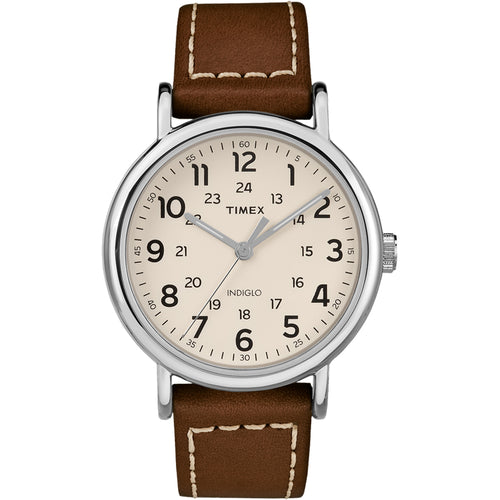 Timex Weekender 2-Piece Leather Strap Watch - Cream [TW2R42400JV]-Timex-Point Supplies Inc.