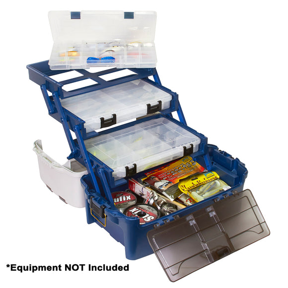 Plano Hybrid Hip 3-Stowaway Tackle Box 3700 - Blue [723700] - Point Supplies Inc.