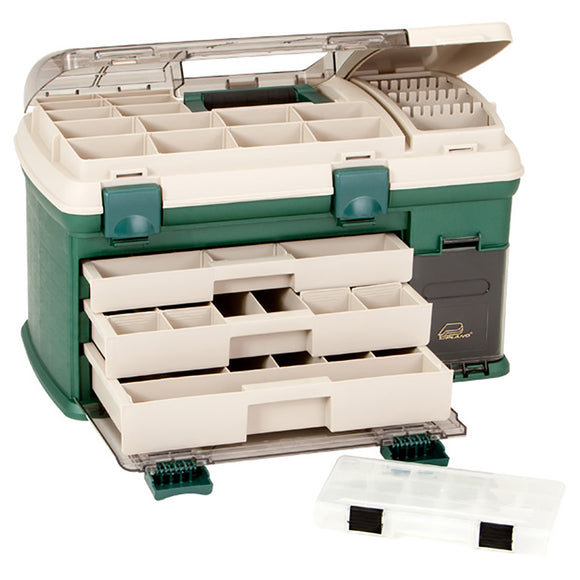 Plano 3-Drawer Tackle Box XL - Green/Beige [737002] - Point Supplies Inc.