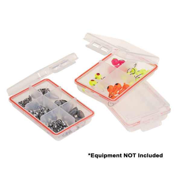 Plano Waterproof Terminal 3-Pack Tackle Boxes - Clear [106100] - Point Supplies Inc.