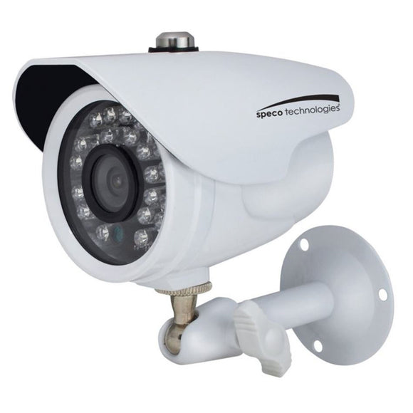 Speco HD-TVI 2MP Color Waterproof Marine Bullet Camera w/IR, 10 Cable, 3.6mm Lens, White Housing [CVC627MT] - Point Supplies Inc.