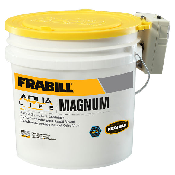 Frabill Magnum Bucket - 4.25 Gallons w/Aerator [14071] - Point Supplies Inc.