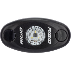 RIGID Industries A-Series Black Low Power LED Light - Single - Amber [480343] - Point Supplies Inc.
