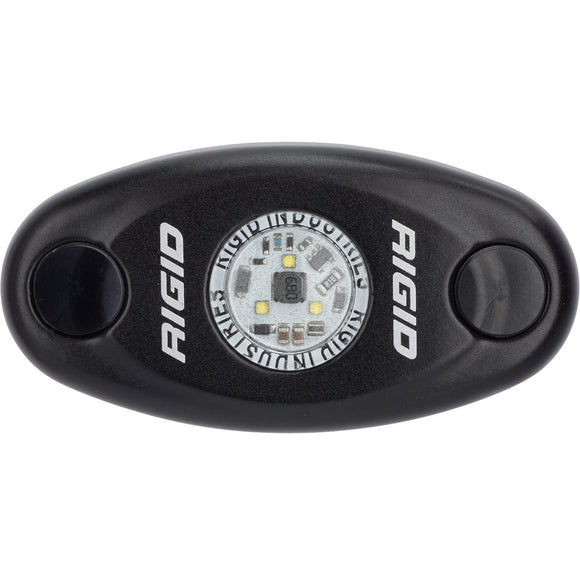 RIGID Industries A-Series Black Low Power LED Light - Single - Neon White [480023] - Point Supplies Inc.
