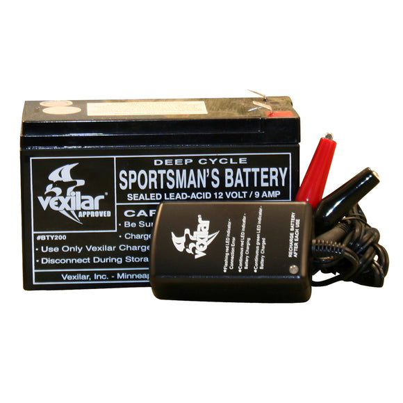 Vexilar Battery  Charger [V-120] - point-supplies.myshopify.com