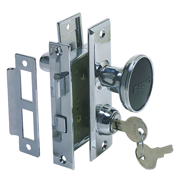 Perko Mortise Lock Set w/Bolt [0927DP0CHR] - Point Supplies Inc.