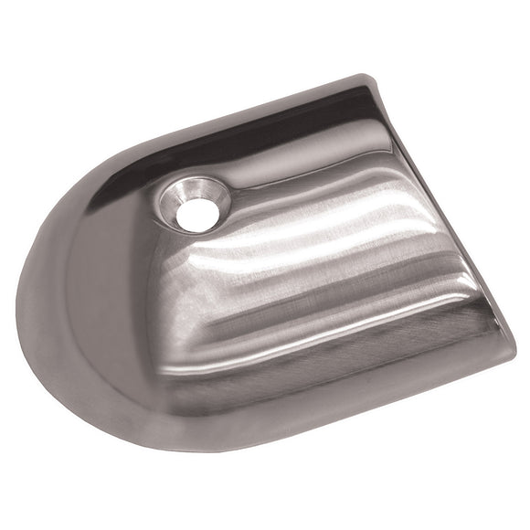 TACO Polished Stainless Steel 2-19/64 Rub Rail End Cap [F16-0091] - Point Supplies Inc.
