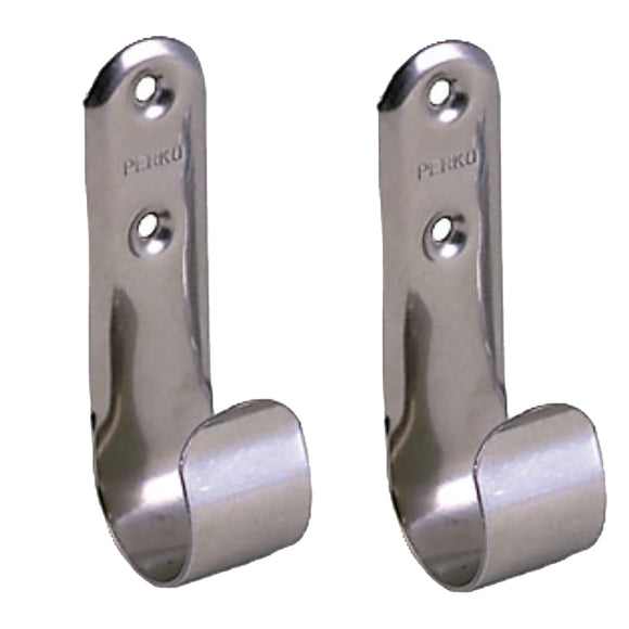 Perko Stainless Steel Boat Hook Holders - Pair [0492DP0STS] - Point Supplies Inc.