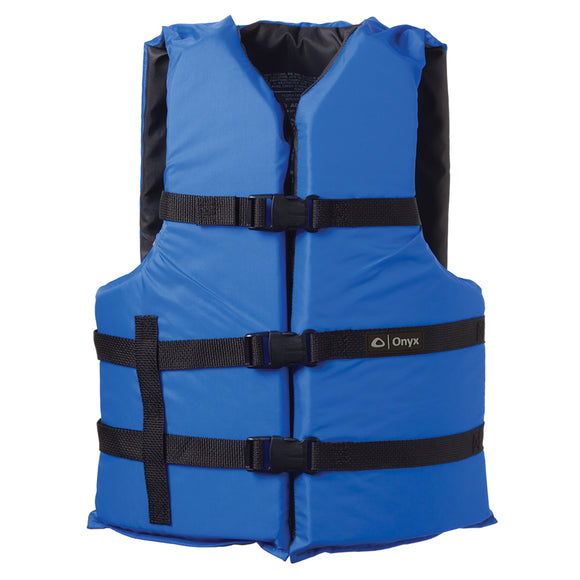 Onyx Nylon General Purpose Life Jacket - Adult Oversize - Blue [103000-500-005-12] - Point Supplies Inc.