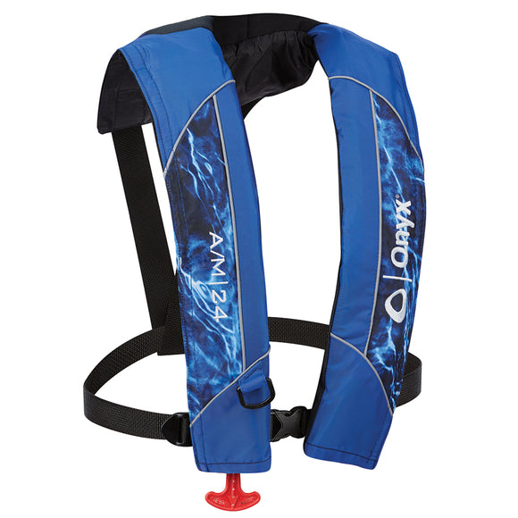 Onyx A/M-24 Automatic/Manual Inflatable Life Jacket (PFD) - Mossy Oak Elements [132000-855-004-19] - Point Supplies Inc.