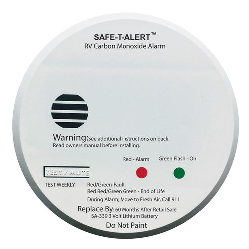 Safe-T-Alert SA-339 White RV Battery Powered CO2 Detector [SA-339-WHT] - point-supplies.myshopify.com