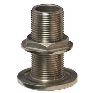 "GROCO 1-2"" NPS NPT Combo Stainless Steel Thru-Hull Fitting w-Nut [TH-500-WS]-GROCO-Point Supplies Inc."