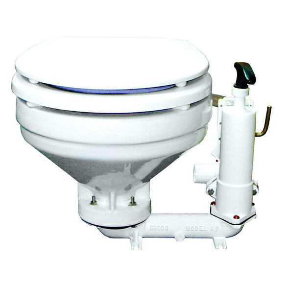 GROCO HF Series Hand Operated Marine Toilet [HF-B] - Point Supplies Inc.