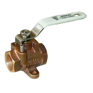 "GROCO 3/8"" NPT Bronze Inline Fuel Valve [FV-375] - Point Supplies Inc."
