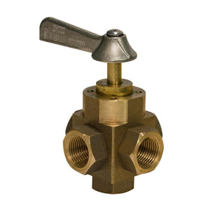"GROCO 1/2"" 5-Port Tank Selector Valve [FV-550-L] - Point Supplies Inc."