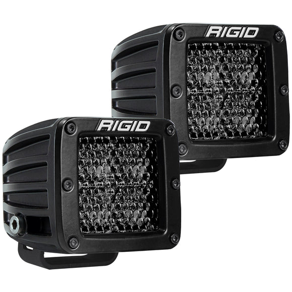 RIGID Industries D-Series Pro Spot Diffused Midnight Surface Mount - Pair [202513BLK] - Point Supplies Inc.
