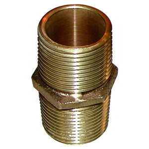 "GROCO Bronze Pipe Nipple - 1-1/2"" NPT [PN-1500] - Point Supplies Inc."