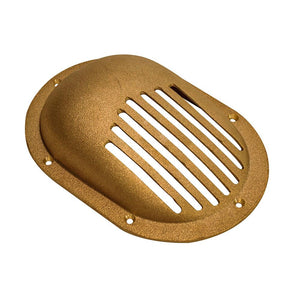 "GROCO Bronze Clam Shell Style Hull Strainer w-Mount Ring f-Up To 2-1-2"" Thru Hull [SC-2500] - point-supplies.myshopify.com"
