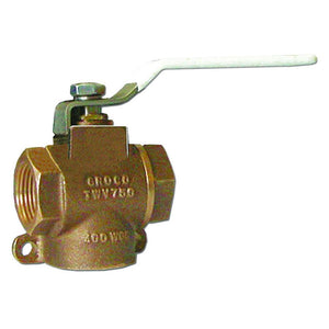 "GROCO 3-4"" NPT Bronze 3-Way Valve [TWV-750]-GROCO-Point Supplies Inc."