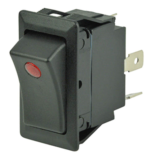 Cole Hersee Sealed Rocker Switch w-Small Round Pilot Lights SPST On-Off 3 Blade [58327-01-BP] - point-supplies.myshopify.com