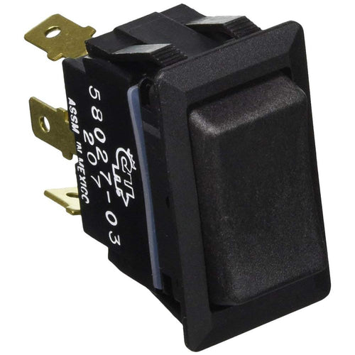 Cole Hersee Sealed Rocker Switch Non-Illuminated SPDT On-Off-On 3 Blade [58027-03-BP] - point-supplies.myshopify.com