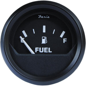 "Faria 2"" Fuel Level Gauge Metric - Euro Black [12802]-Faria Beede Instruments-Point Supplies Inc."