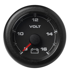 "VDO Marine 2-1/16"" (52mm) OceanLink Battery Voltage Gauge - 8 to 16 V - Black Dial  Bezel [A2C1066100001] - Point Supplies Inc."