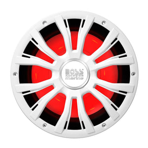 "Boss Audio MRG10W 10"" Marine 800W Subwoofer w-Multicolor Lighting - White [MRGB10W]-Boss Audio-Point Supplies Inc."