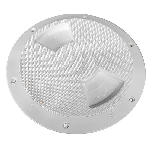Sea-Dog Textured Quarter Turn Deck Plate - White - 6