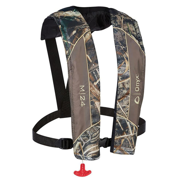 Onyx M-24 Manual Inflatable Life Jacket - Realtree Max-5 Camo [131000-812-004-19] - Point Supplies Inc.