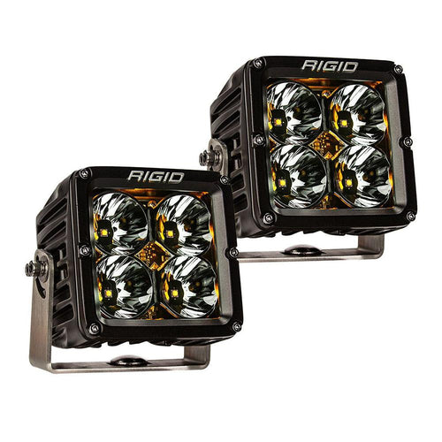 RIGID Industries Radiance Pod XL - Black Case w-Amber Backlight - Pair [32205] - point-supplies.myshopify.com