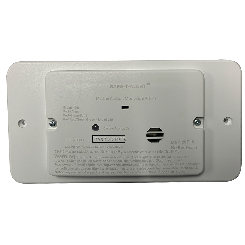 Safe-T-Alert 65 Series Marine Carbon Monoxide Alarm - Flush Mount - 12V - White [M-65-542] - point-supplies.myshopify.com