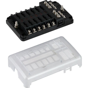 Sea-Dog Blade Style LED Indicator Fuse Block w-Negative Bus Bar - 12 Circuit [445188-1] - point-supplies.myshopify.com
