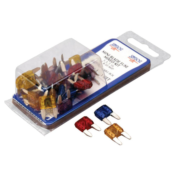 Sea-Dog ATM Mini Blade Style Mixed Fuse Kit [445090-1] - Point Supplies Inc.