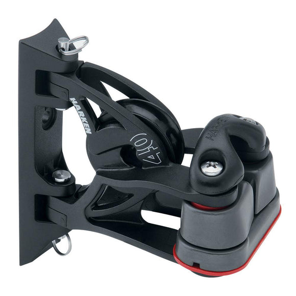 Harken 40mm Carbo Air Pivoting Lead Block w/Aluminum Cam-Matic Cleat [2156] - Point Supplies Inc.